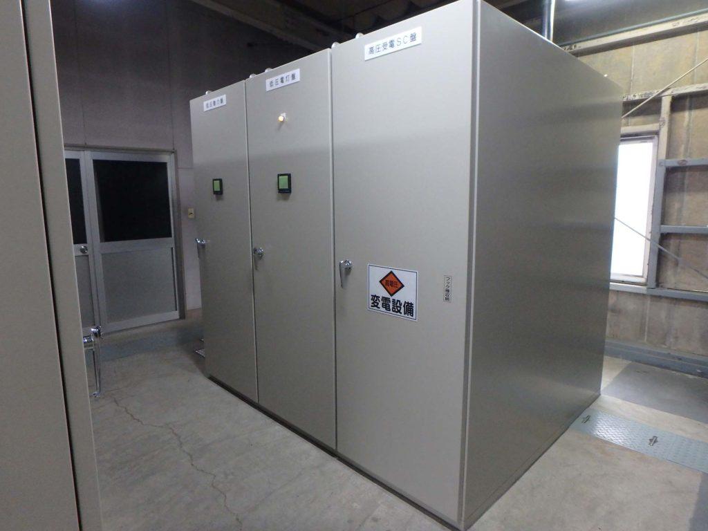 第502/61号 上戸次揚水機電気設備復旧工事(受変電設備)