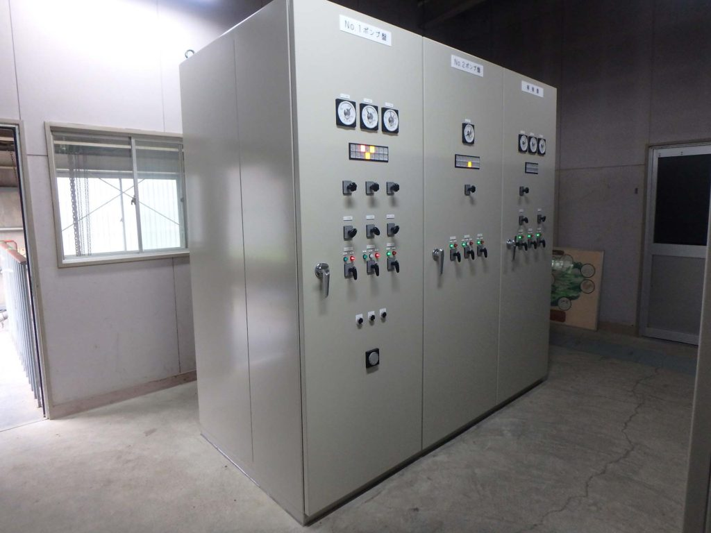 第502/61号 上戸次揚水機電気設備復旧工事(ポンプ制御設備)